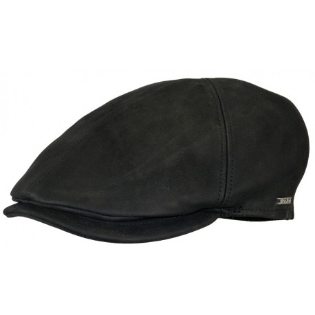 Casquette Phoenix cuir Noir