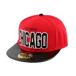 Snapback Landtaylor Chicago Rouge et noire