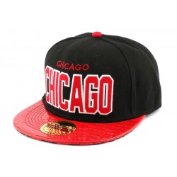 Snapback Landtaylor Chicago Noire et Rouge