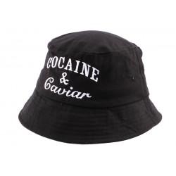 Bob Streetwear Noir Brodé Caviar