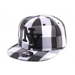 Snapback NY Carreaux noir et blanc