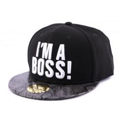 Snapback JBB Couture I'm a Boss Noire visière Serpent