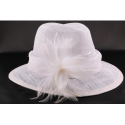 Chapeau mariée Landine Blanc en sisal