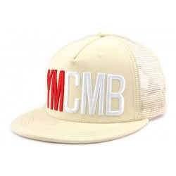 Casquette Trucker YMCMB Beige CASQUETTES YMCMB