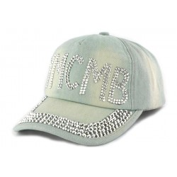 Casquette Baseball YMCMB Jeans Clair