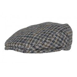 Leonmontane Casquette Blackpool Harris Tweed dégradé gris et marron