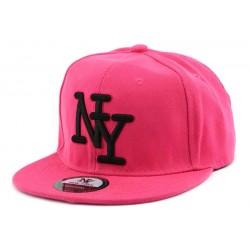 Snapback Ny Rose avec logo Noir CASQUETTES Hip Hop Honour