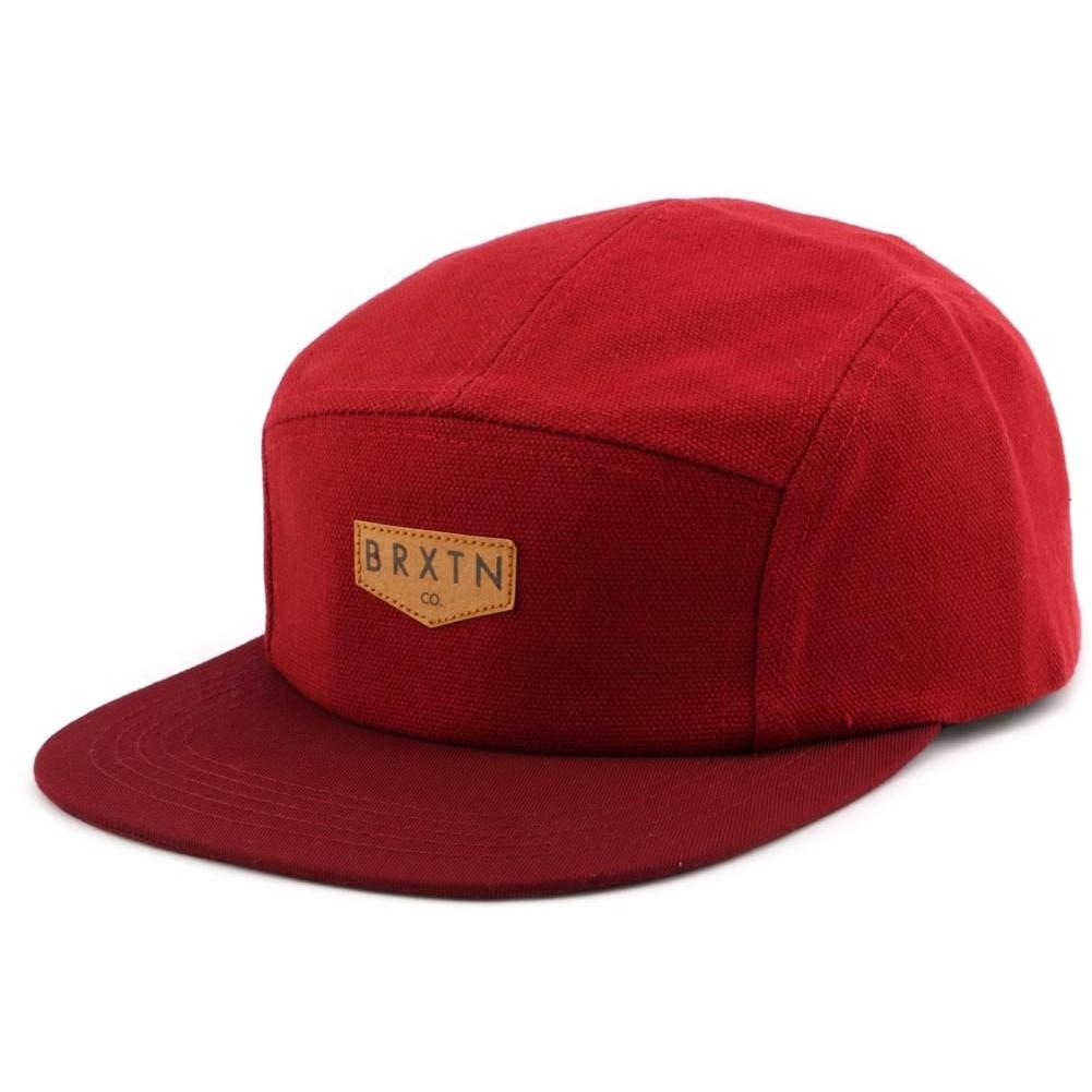 casquette brixton haft 5 panel rouge bordeaux boutique headwear. Black Bedroom Furniture Sets. Home Design Ideas