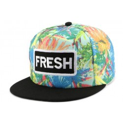 Snapback FRESH Bleue et Orange CASQUETTES Hip Hop Honour