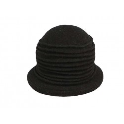 Chapeau Laine Herman Headwear Lady Grace Noir