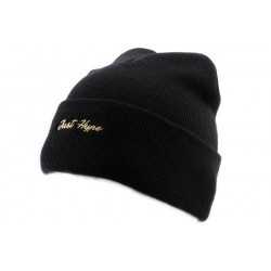 Bonnet à Revers Hype Just Gold Noir BONNETS HYPE