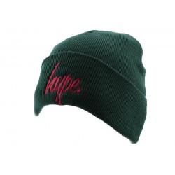 Bonnet à Revers Hype Script Vert et Rouge