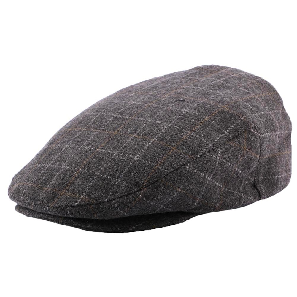 casquette brixton hooligan grise casquette plate grey plaid hatshowroom site headwear. Black Bedroom Furniture Sets. Home Design Ideas