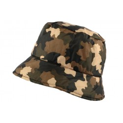 Chapeau Pluie Nyls Création Claire Camouflage marron CHAPEAUX Nyls Création