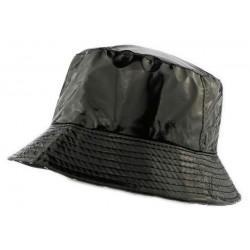 Chapeau Pluie Nyls Création Maud Noir Brillant