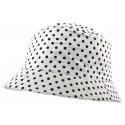 Chapeau Pluie Nyls Création Maud Blanc Pois