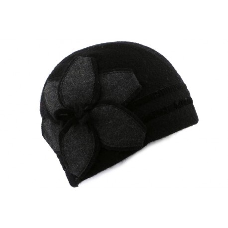 Bonnet Femme laine bouillie Noir