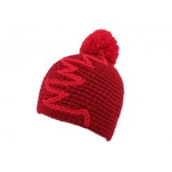 Bonnet à pompon Race Nyls Création Rouge