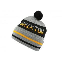 Bonnet Brixton à pompon Fairmont Gris BONNETS BRIXTON
