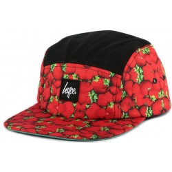 Casquette 5 panel Hype Strawberries Rouge et Noire