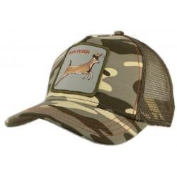 Casquette Trucker Goorin Bros 4 Points camouflage kaki