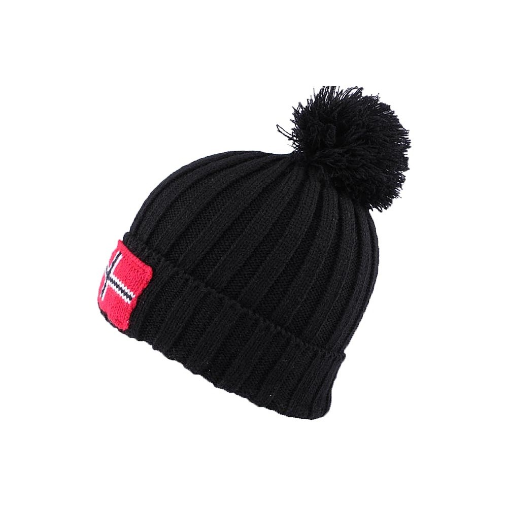 bonnet pompon danemark noir site headwear hatshowroom. Black Bedroom Furniture Sets. Home Design Ideas