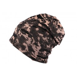 Bonnet Oversize Camouflage Noir Nyls Création BONNETS Nyls Création