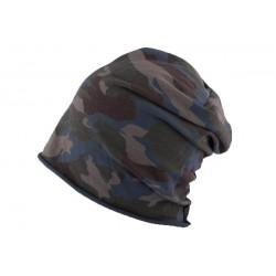 Bonnet Oversize Camouflage Bleu Nyls Création BONNETS Nyls Création