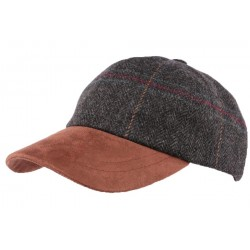 Casquette Baseball Tweed Gris Olney Headwear ANCIENNES COLLECTIONS divers