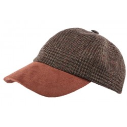 Casquette Baseball Tweed Marron Olney headwear CASQUETTES Olney Headwear Limited