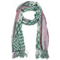 Foulard Vert et Rose Stains Nyls Création
