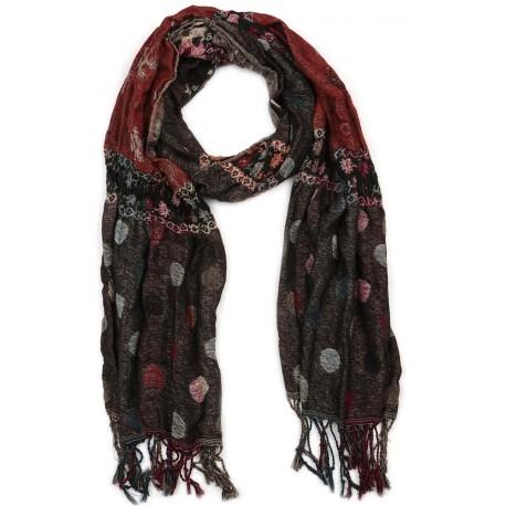foulard rouge marron snek foulard homme et femme. Black Bedroom Furniture Sets. Home Design Ideas