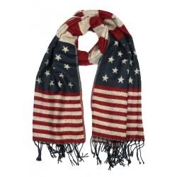 Echarpe drapeau américain Bleu et Rouge Nyls Création