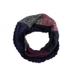 Echarpe Tube Bleue et Rouge Jane Nyls Création