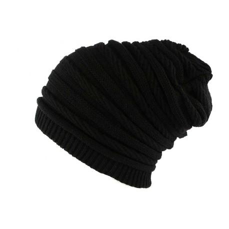 Bonnet Rasta Oversize Noir Jack Nyls Creation