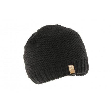 Bonnet Enfant Noir en Laine - Collection R Mountain sur Hatshowroom 442247e2f51