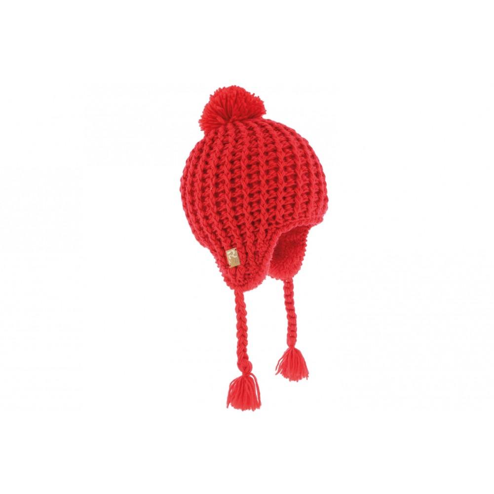 achat bonnet p ruvien b b rouge bonnet laine et polaire livr en 48h. Black Bedroom Furniture Sets. Home Design Ideas