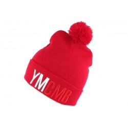 Bonnet YMCMB Rouge avec Pompon