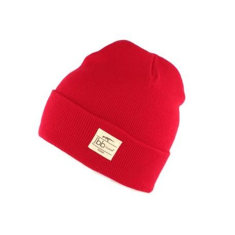 Bonnet Rouge JBB Couture avec revers