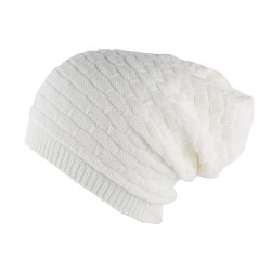 Bonnet Rasta Blanc en laine Ben Nyls Création BONNETS Nyls Création