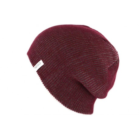 Bonnet Long Coal Headwear The Binary Bordeaux BONNETS COAL