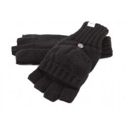 Gants Mitaine et Moufle Coal en laine Noire