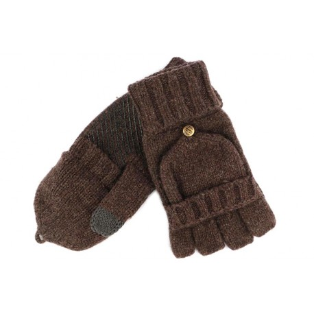 Gants  et Moufle Coal en laine Marron The Mcneil