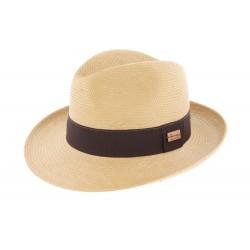 Chapeau paille Lester Tabac Herman Headwear