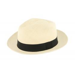 Chapeau Panama Jason Naturel et noir Herman 1874