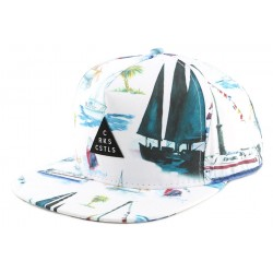 Casquette Crooks and Castles Paradise White CASQUETTES CROOKS & CASTLES