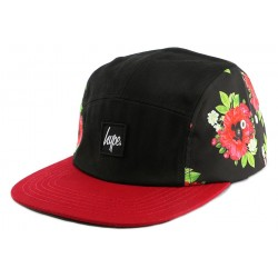 Casquette 5 Panel Hype Black Poppy CASQUETTES HYPE