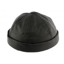 Bonnet docker cuir Noir Aussie Apparel