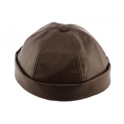 Bonnet docker Cuir Marron Aussie Apparel BONNETS Aussie Apparel