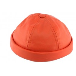 Bonnet docker Cuir Orange Aussie Apparel BONNETS Aussie Apparel